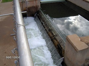 Return to sender. It is in these chlorinators that the mostly clean effluent is treated with chemicals to further purify it. Image credit to Wichita Falls, Texas